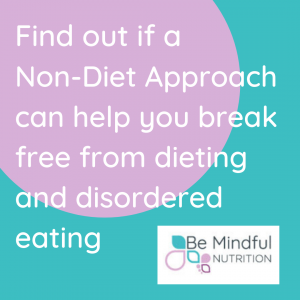 Non diet approach, mindful